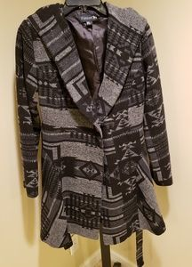 Pendleton tribal peacoat with hood